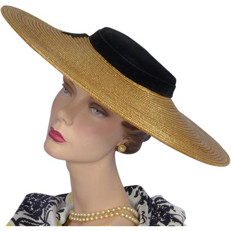 how to make a 1940 style hat vintage late 1940s early 1950s large straw and velvet