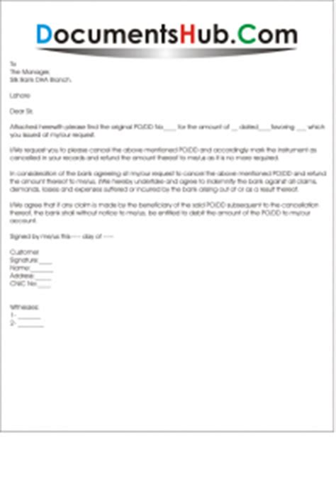 indemnity bond  cancellation  demand draft