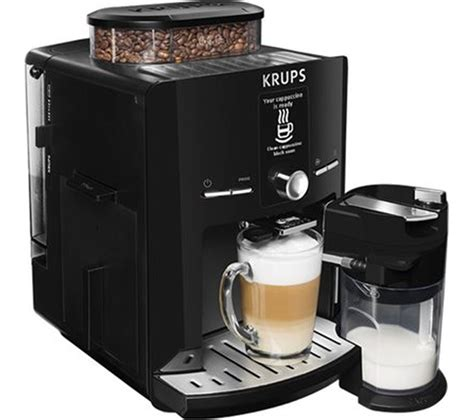 Krups Coffee Machine buy krups espresseria ea8298 bean to cup coffee machine black free delivery currys