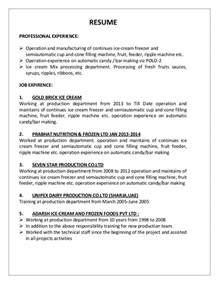 resume parab production operator