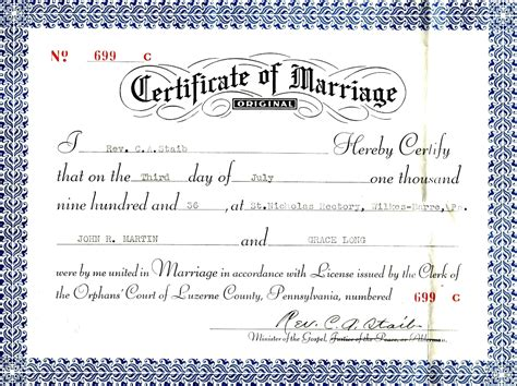 christian certificate template christian marriage certificate sle certificate234