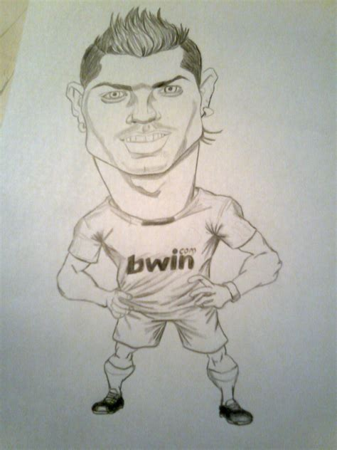 imagenes a lapiz de jugadores cristiano ronaldo caricatura dibujado por m 237 arte