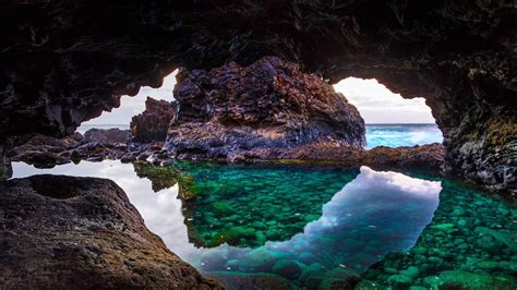 cave  el hierro island canary islands spain hd