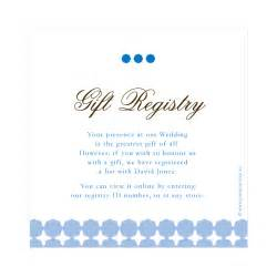 bridal registry wedding invitation wording exles gift registry wedding invitation ideas