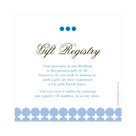 Gift Card Registry - 64 wedding gift registry message registry cards for wedding etiquettes to