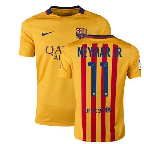 Jersey Junior Barcelona Away 1213 Youth Barcelona 11 Neymar Jr Yellow Stripes Away