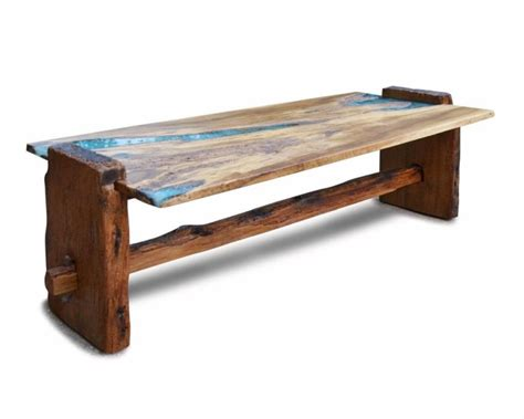 live edge table with turquoise inlay 20 best live edge coffee tables designs more