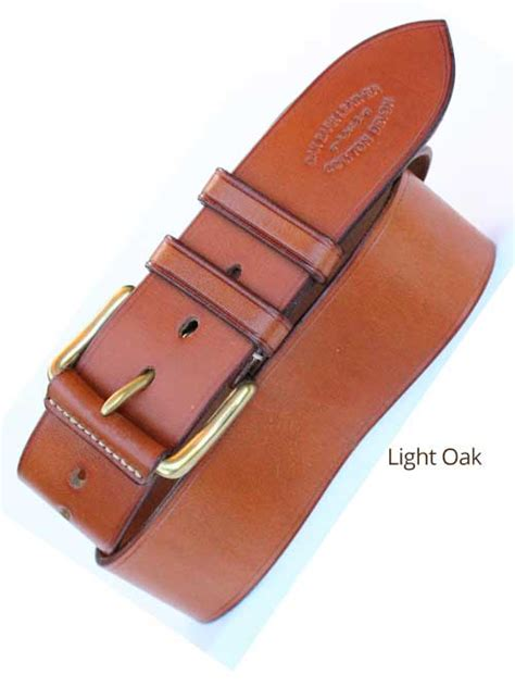 Handmade Leather Company - 2 quot bridle handmade leather belt bespoke belt made to
