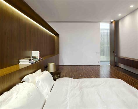 bedroom minimalist interior marcio kogan s casa lee concrete house wood clad
