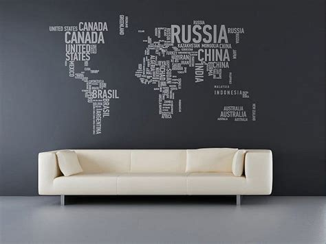 map of the world stickers for walls wall stickers that lend a personal touch