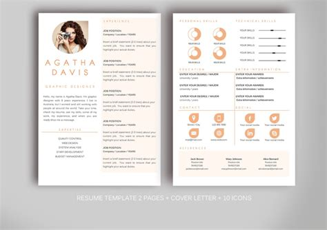 creative resume template microsoft word 20 business resume template word psd eps and ai format