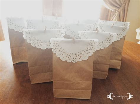 Easy Inexpensive Favor Bags Five Marigolds