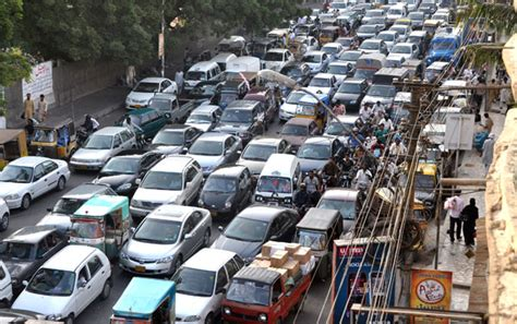 karachi traffic in chaos as mwm extends sit ins to other