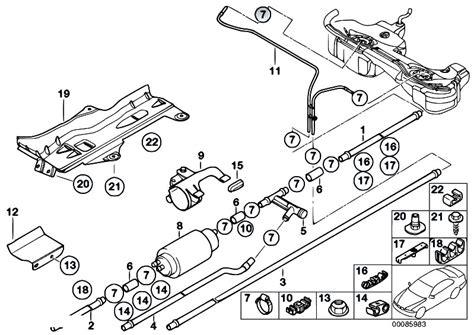 e46 parts diagram original parts for e46 330d m57 touring fuel supply