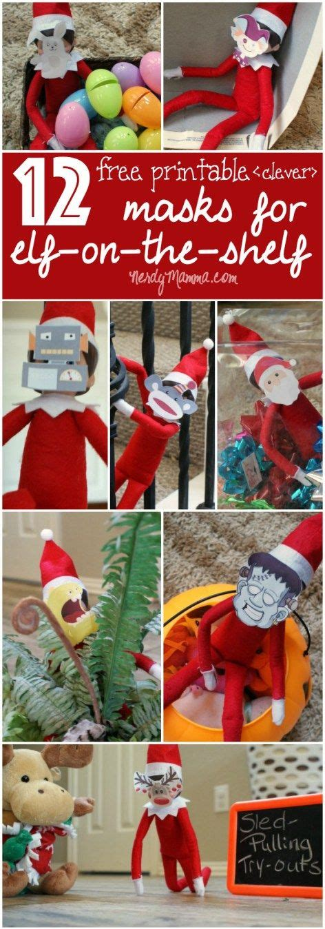 printable elf on the shelf mask pinterest the world s catalog of ideas