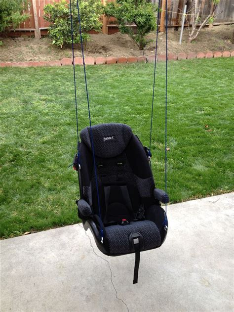 homemade swing seat diy car seat upcycle diy baby swing outdoor clever ideas