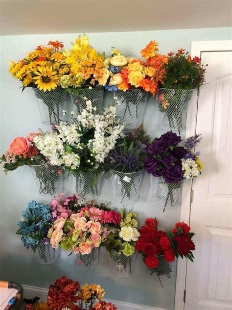 pin  ribbon floral craft storage displays