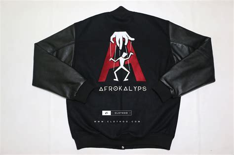 Custom Letterman Jackets Custom Varsity Letterman Jackets Woo Black Embroidery