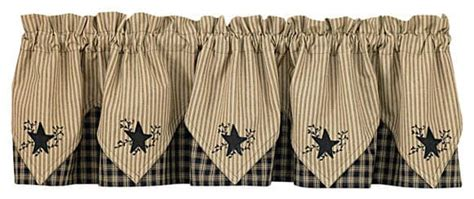 country curtains with stars black star embroidered lined point curtain valances