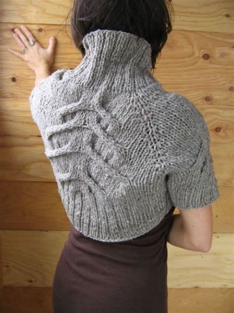 cable back knitting knitted shrug by halvorson the cable choice