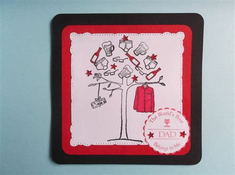 Handmade Card Toppers - handmade card topper tree quot best quot fathers day or