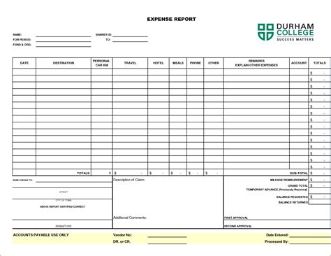 4 mileage expense report printable receipt