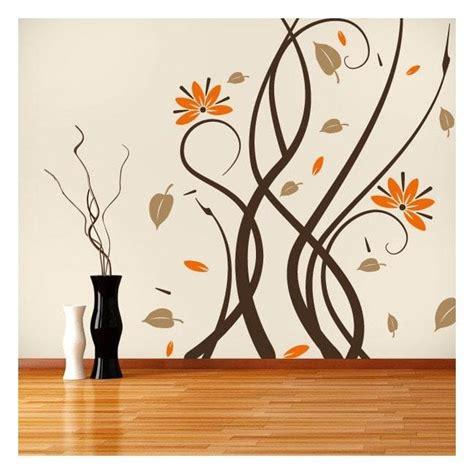 imagenes paredes minimalistas vinilos decorativos paredes flores multicolor