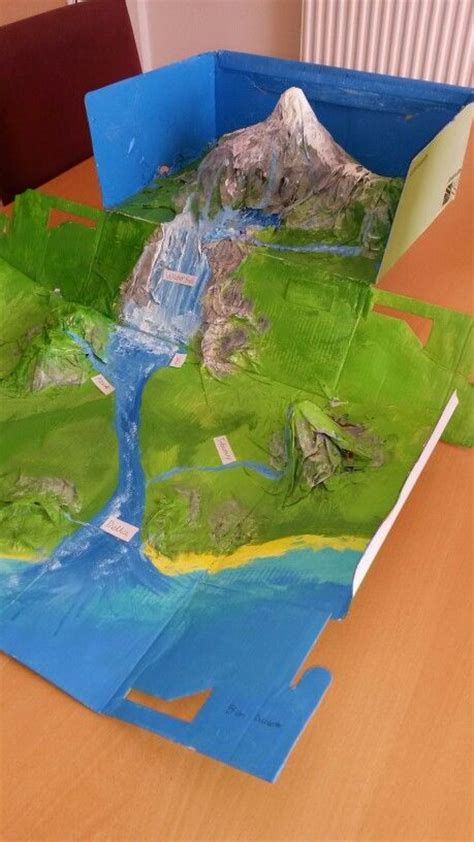 How To Make A River Out Of Paper - river model school project river model
