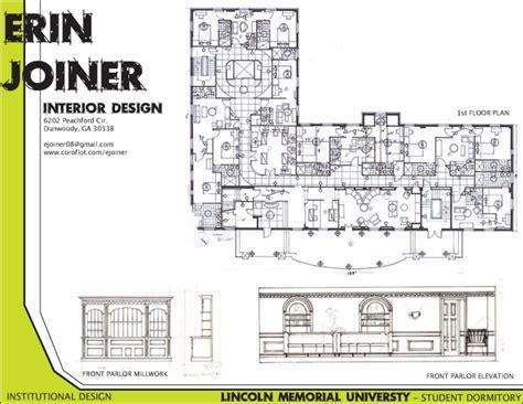 lincoln memorial floor plan lincoln memorial university institutional design by erin
