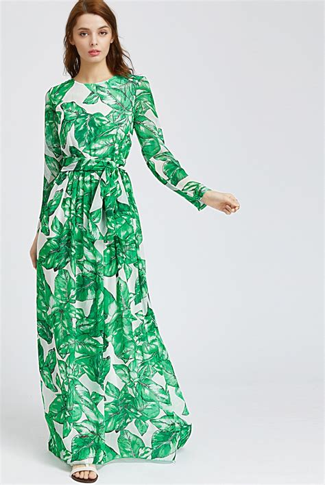 Leaf Maxi palm leaf maxi dress