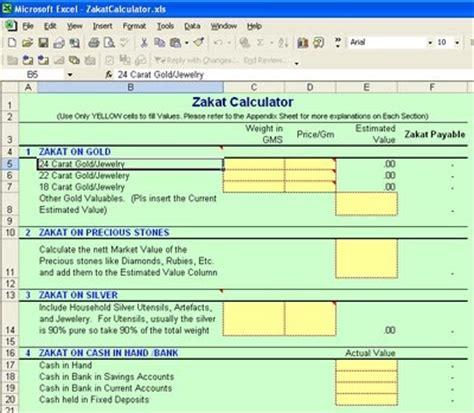 calculator zakat one ummat easy zakat calculator in excel format
