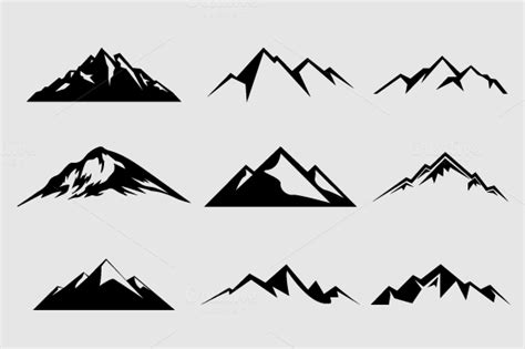 tattoo logo photoshop mountain shapes for logos vol 2 by lovepower on creative