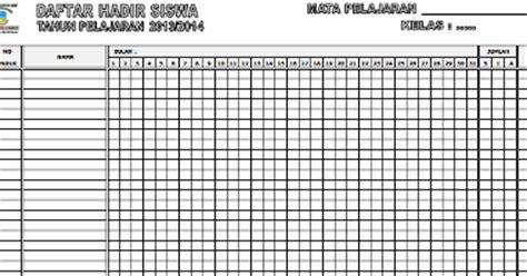 format daftar hadir untuk absen format daftar hadir siswa untuk satu bulansmp negeri 5