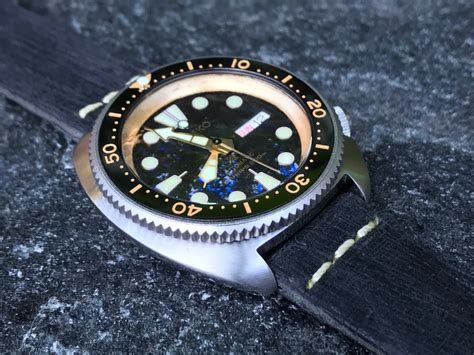 Dlw Ceramic Bezel Insert Seiko Mod Turtle Re Issue Sub Vintage Black post your mods here gt page 911