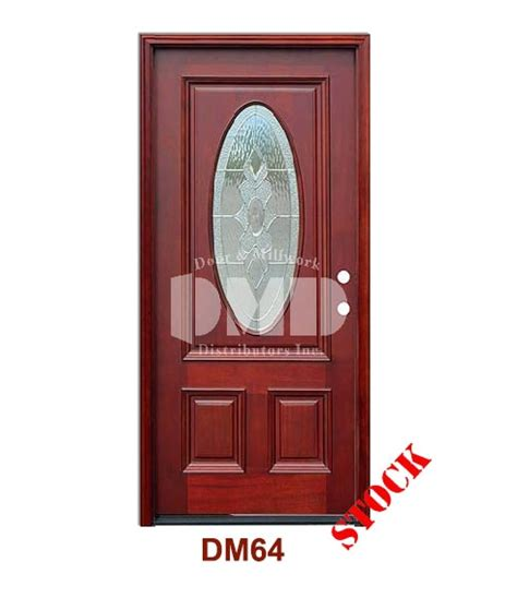 Wholesale Front Entry Doors Dm64 Mahogany Exterior 3 4 Std Oval Strathmore Zinc Caming Door And Millwork Distributors Inc