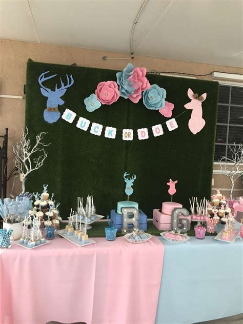 Buck Or Doe Gender Reveal Party  Ee  Ideas Ee   Of