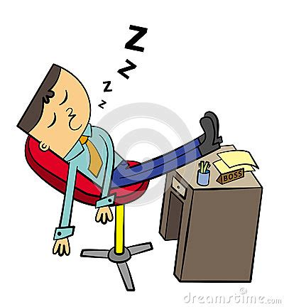 Sleeping At Desk Clipart character in business attire sleeping on his desk at work xhamc4 clipart kid
