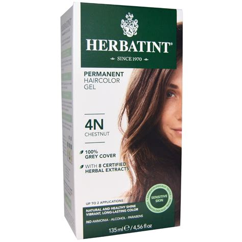4n hair color herbatint permanent haircolor gel 4n chestnut 4 56 fl