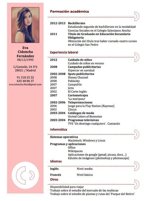 Plantillas De Resumen Curriculum Para Rellenar Curriculums Originales Maestra Buscar Con Curr 237 Culo Plan De Estudios Y