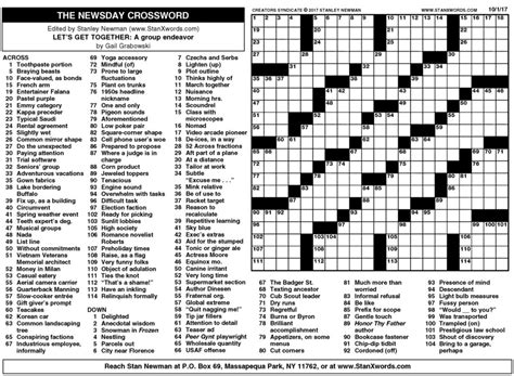 printable version of la times crossword sunday crossword printable download s le pdf of