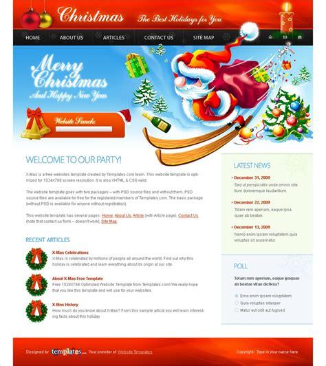 Free Christmas Website Template Org Website Templates