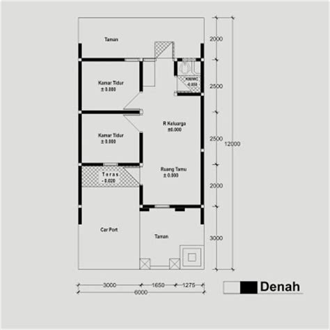 contoh format gambar teknik contoh sketsa gambar bangunan rumah type 36 konstruksi
