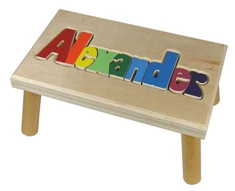 Puzzle Stools For Toddlers by Personalized Puzzle Step Stool Baby