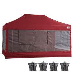 Vendor Canopy 10x15 Abccanopy Deluxe Burgundy Food Vendor Packagetent