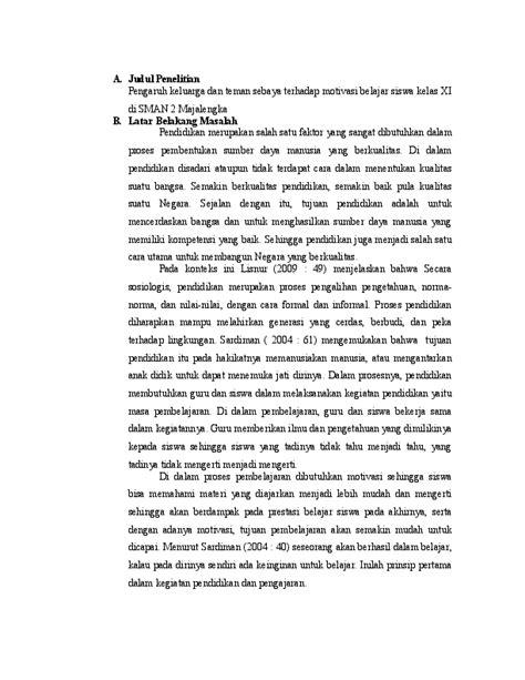 46+ Tinjauan Pustaka Proposal Keilmuan Tulisan Siswa Sman