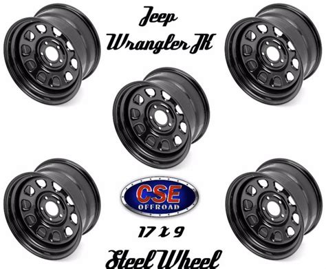 Jeep Wrangler Steel Wheels Outland Set Of 5 Black 17x9 Steel Wheel 5x5 Jeep Wrangler