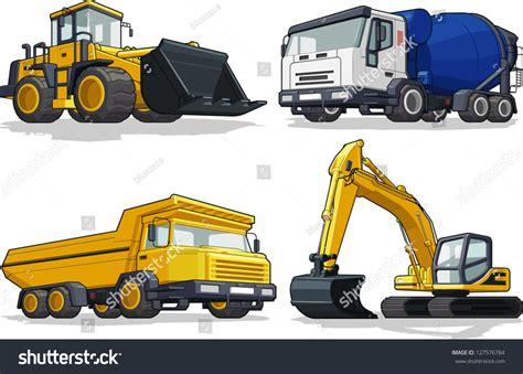 Machine Truck Construction Limited construction machine bulldozer cement truck haul stock vector 127576784