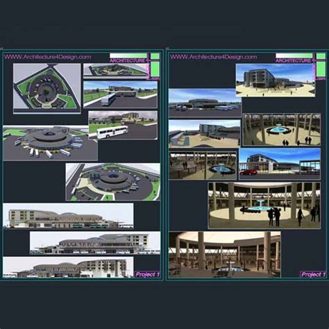 Gas Station Floor Plans Bus Terminal Architecture Design A Collection Of 11 Bus