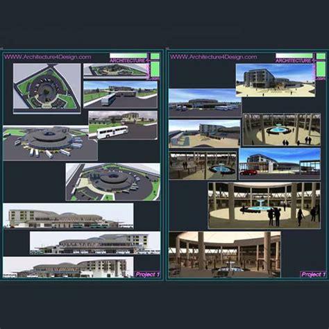 Architecture Design Concept In Autocad Terminal Architecture Design A Collection Of 11