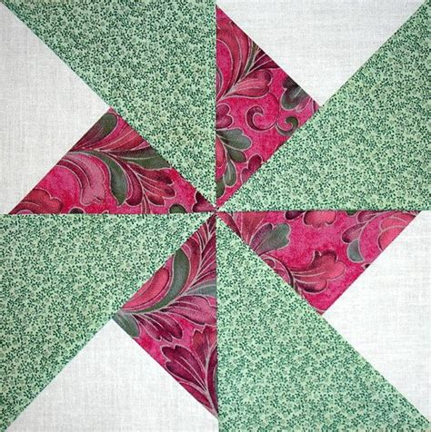 Pinwheel Patchwork - pinwheel quilt blocks pink and green pinwheels